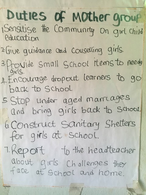 Poster at Namachete school