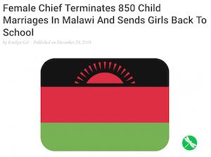 Female Chief Terminates 850 Child Marriages image